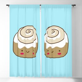 Cute Kawaii Cinnamon Bun Blackout Curtain