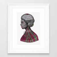 camouflage Framed Art Prints featuring Camouflage  by Luna Portnoi
