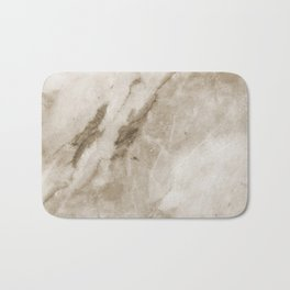 Classic Brown White Marble Rock Real Stone Bath Mat