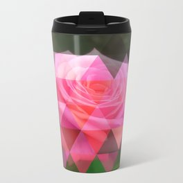 Pink Roses in Anzures 4 Art Triangles 1 Travel Mug