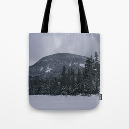 Winter at Lonesome Lake in the White Mountains Tote Bag