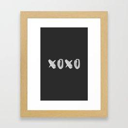 xoxo kiss Framed Art Print