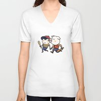 earthbound V-neck T-shirts featuring Mother Miami by Jarvis Glasses