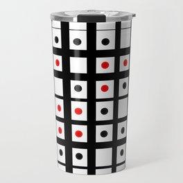 Dots in a grid Travel Mug