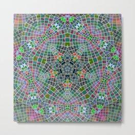 Elegant Geometric Rectangular, Triangular Shapes Metal Print