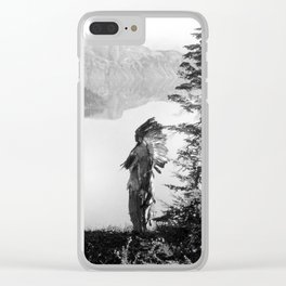 The Chief - Klamath Edward Curtis, 1923 Clear iPhone Case