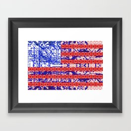 digital Flag (USA) & circuit board. Framed Art Print