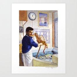 Portuguese Eel Seller Art Print