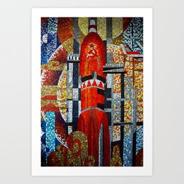 Spaceships Will Cross The Sky Art Print
