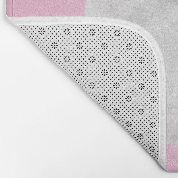 WHITE MOON + PINK SKY Bath Mat