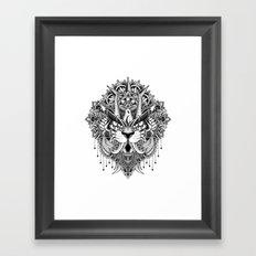 Tiger Mandala Framed Art Print