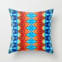Peace Offering - Pattern Art By Sharon Cummings Throw Pillow