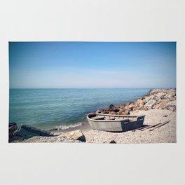 Fishing boat Rug