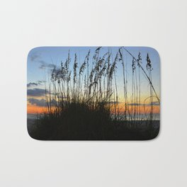 Sea Oats at sunset Bath Mat