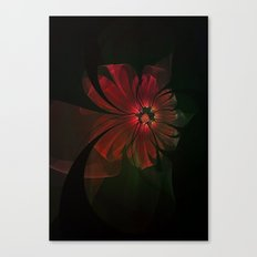 Fractal Ribbon Flower Canvas Print