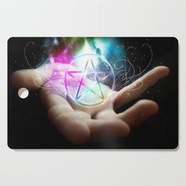Magickal flaming pentacle Cutting Board