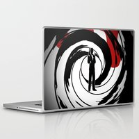 bond Laptop & iPad Skins featuring JAMES BOND by alexa