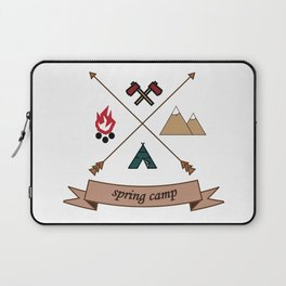 Camping Spring Camp adventure design Laptop Sleeve