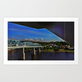 Walnut Street Bridge Art Print