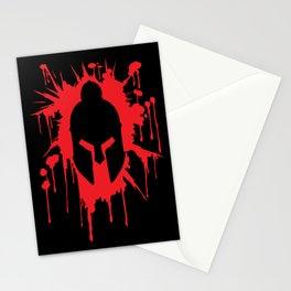 Spartan Helmet in Bloodstain | Warrior Workout Stationery Cards