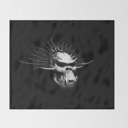Troll Skull Throw Blanket