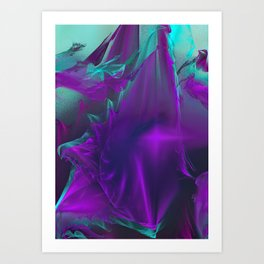 JaSet Design Purples and Blue Art Print