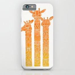 Giraffes – Orange Ombré iPhone Case
