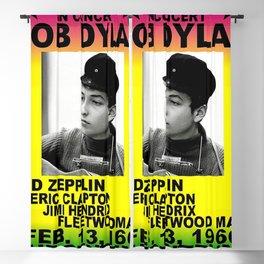 Vintage 1966 Centrum, Worcester, Massachusetts Bob Dylan Concert Billboard Gig Poster Blackout Curtain