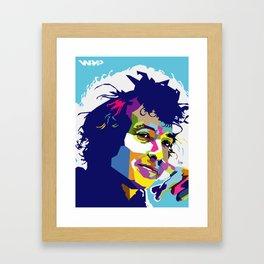 Bob Dylan WPAP Framed Art Print