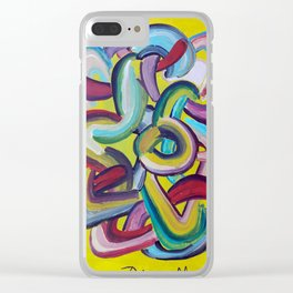 Formas en el espacio 2 Clear iPhone Case