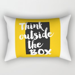 Inspirational Quote Think Outside Of Box Printable Quote Print Typography Print Quote Motivational Rectangular Pillow