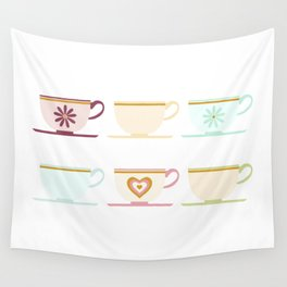 Teacups Wall Tapestry