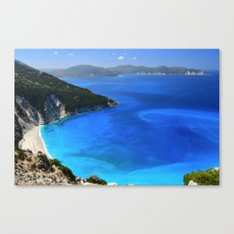 myrtos beach, kefalonia Canvas Print
