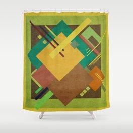 Geometric illustration 18 Shower Curtain