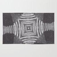 cocaine Area & Throw Rugs featuring Tesselate by instantgaram