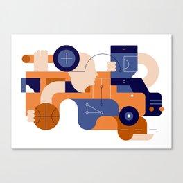Schoolbus Canvas Print