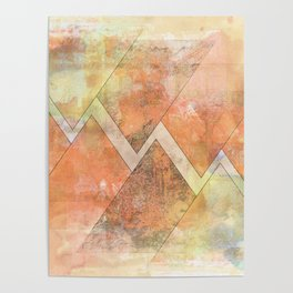 triangle grunge Poster