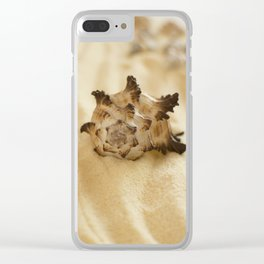 Black and White Murex Shell Clear iPhone Case