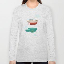 Floating Boat Long Sleeve T-shirt