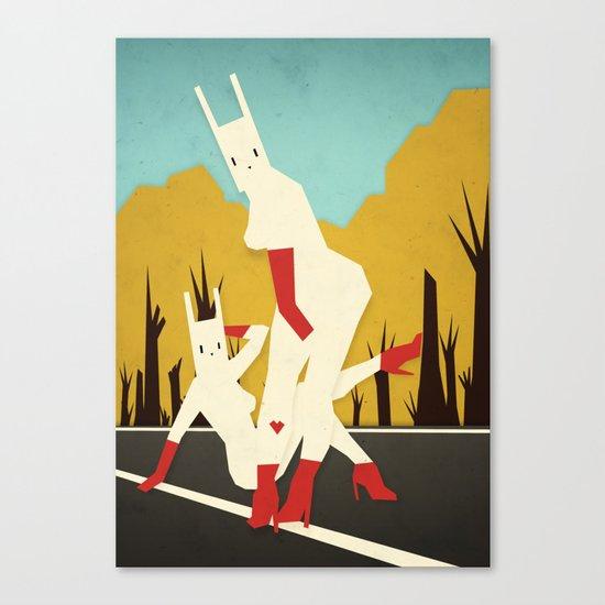 roadside bunnies Canvas Print