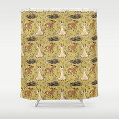 Summer Goat Pattern Shower Curtain