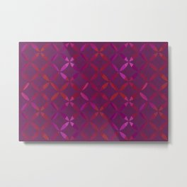 Fancy red and pink circle pattern Metal Print
