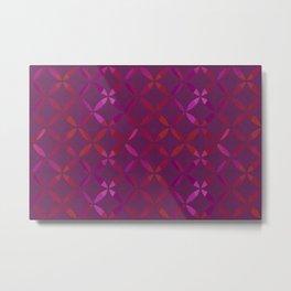 Fancy red and pink circle pattern Metal Print