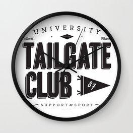 University Tailgate Club Wall Clock