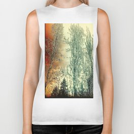 Autumn Poplars, Sunlight Dreaming About You Biker Tank