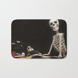 Greetings from Halloween Skeleton Bath Mat