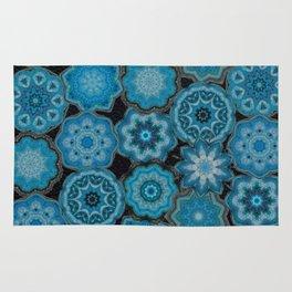 blue gems Rug