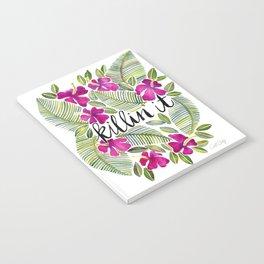 Killin' It – Tropical Pink Notebook