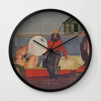 fishing Wall Clocks featuring Fishing by Jon Duci