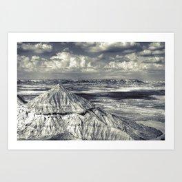 Bardenas Reales desert - le plateau Art Print